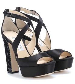 Jimmy Choo April 120 satin plateau sandals