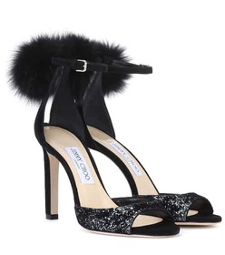 Jimmy Choo Suri 100 suede sandals