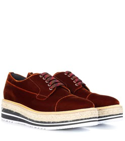 Prada Platform velvet Derby shoes