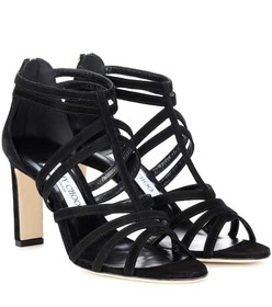 Jimmy Choo Selina 85 suede sandals