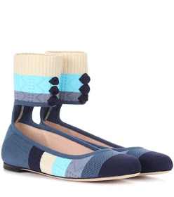 Fendi Knitted ballerinas