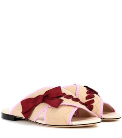 Fendi Jersey slip-on sandals