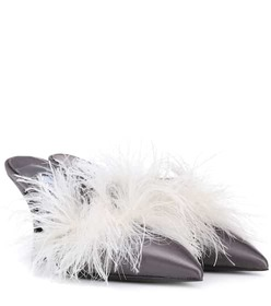 Prada Exclusive to mytheresa.com – feather-trimmed