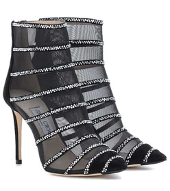 Jimmy Choo Belle 100 mesh ankle boots
