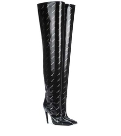 Balenciaga Knife over-the-knee leather boots