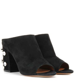 Givenchy Paris 9 suede open-toe mules