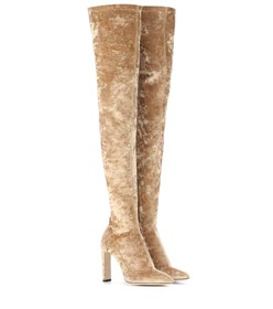Jimmy Choo Lorraine 100 velvet over-the-knee boots