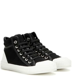 Jimmy Choo Berlin leather-trimmed high-top sneaker