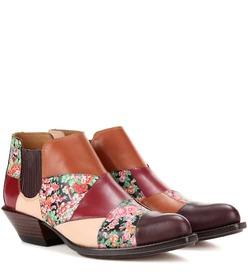 Coach Patchwork Bandit printed leather ankle boots