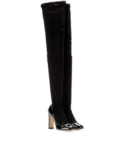 Dolce & Gabbana Suede and patent leather over-the-