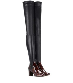Calvin Klein Collection Leather over-the-knee boot