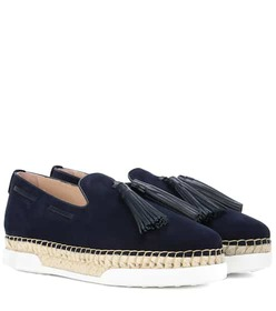 Tod's Tasselled suede loafers
