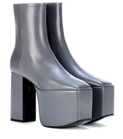 Balenciaga Plateau leather ankle boots