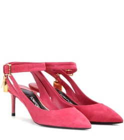 Tom Ford Padlock suede pumps