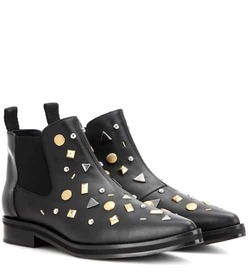 McQ Alexander McQueen Embellished leather Chelsea