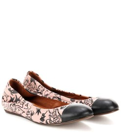 Lanvin Printed leather ballerinas