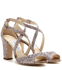 Jimmy Choo Carrie 85 glitter embellished leather s