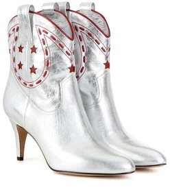 Marc Jacobs Metallic leather cowboy boots