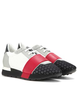 Balenciaga Race Runner fabric and leather sneakers
