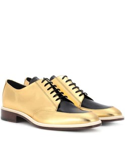 Lanvin Metallic leather Derby shoes