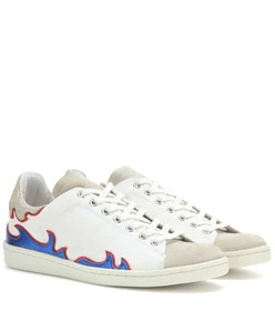 Isabel Marant Gilly leather-trimmed canvas sneaker