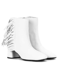 Prada Fringed leather ankle boots