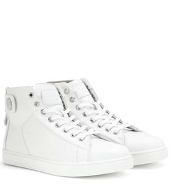 Gianvito Rossi Justin high-top leather sneakers