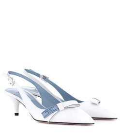 Prada Leather sling-back pumps