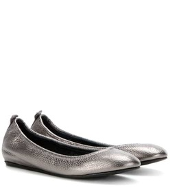 Lanvin Metallic leather ballerinas