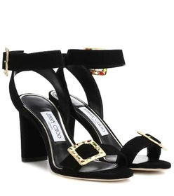 Jimmy Choo Dacha 85 suede sandals