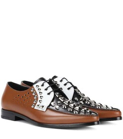 Prada Embellished leather brogues