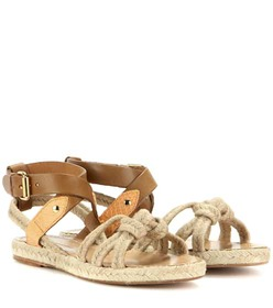 Isabel Marant Camila rope and leather sandals