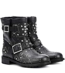 Jimmy Choo Youth embellished leather ankle boots