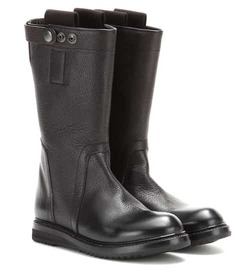 Rick Owens Leather biker boots