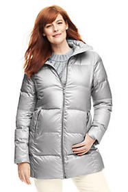 Lands End Women's Plus Size Lightweight Down A-lin