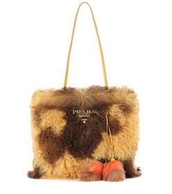 Prada Shearling shopper
