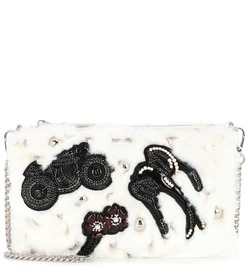 Miu Miu Embellished fur clutch