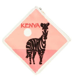 Charlotte Olympia Kenya printed fabric pouch