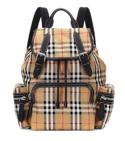 Burberry The Rucksack Medium leather-trimmed backp