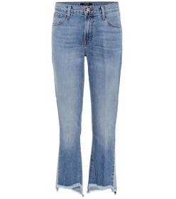 J Brand Aubrie high-rise cropped jeans