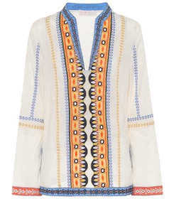 Tory Burch Stephanie embroidered cotton top