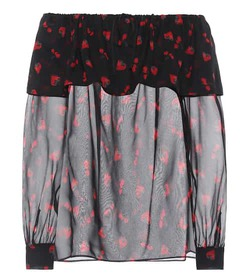 Miu Miu Printed silk top
