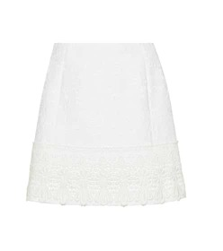 Dolce & Gabbana Cotton-blend jacquard skirt