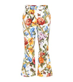 Dolce & Gabbana Floral-prined stretch-cotton trous