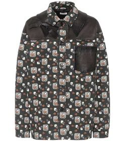 Miu Miu Printed cotton jacket
