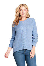 Lands End Women's Plus Size Lofty Blend Placed Cab