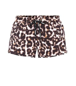 The Upside Leopard-printed running shorts