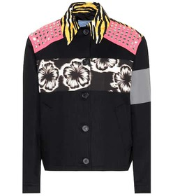 Prada Printed cotton jacket