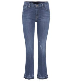 J Brand Selena Bootcut cropped skinny jeans