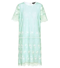 Burberry Embroidered tulle T-shirt dress